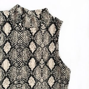 Ribbed Snakeskin Halter Top